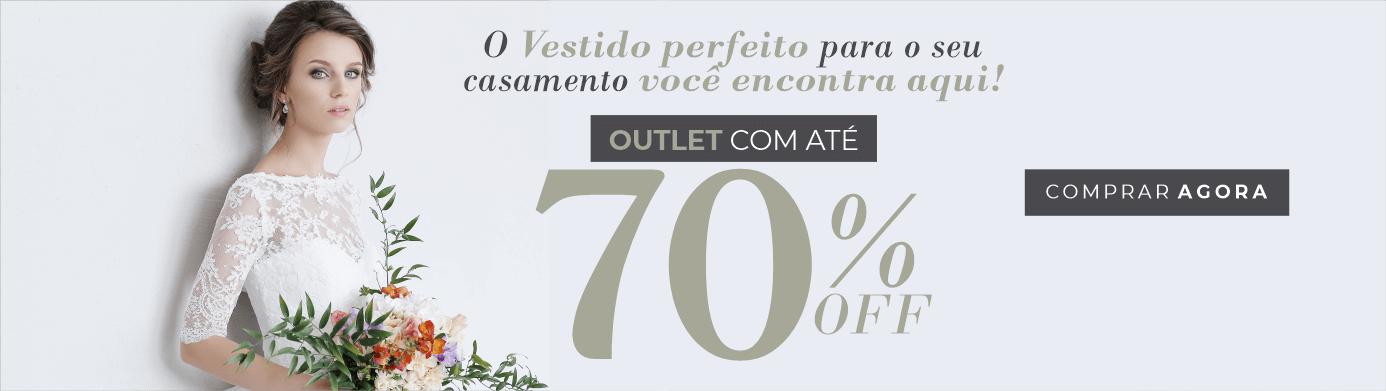 Vestidos de noiva com até 70%